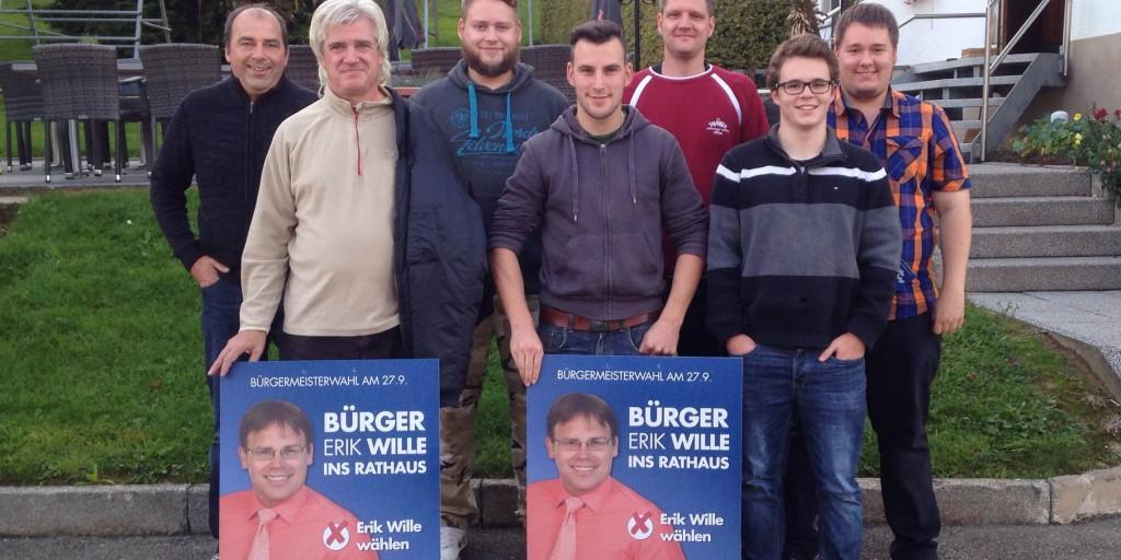 In Aktion: Junge Alternative unterstützt den Wahlkampf zur OB-Wahl in Meßstetten