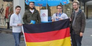 Aktionswochenende: Junge Alternative im Vorwahlkampf in Mannheim