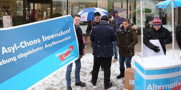 Landtagswahlkampf: Großes Aktions-Wochenende der JA