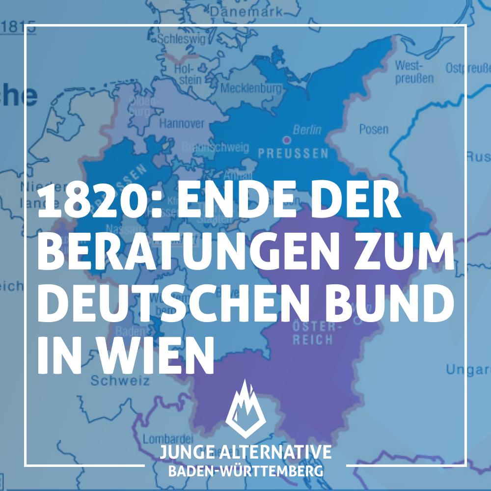 Vor 200 Jahren – In Wien enden die Beratungen zu den Grundlagen des Deutschen Bundes