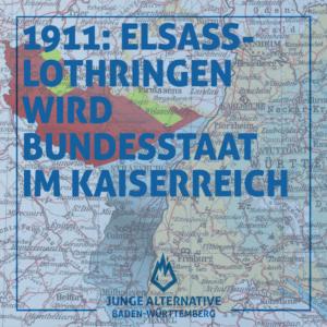 1911: Verfassung für Elsass-Lothringen