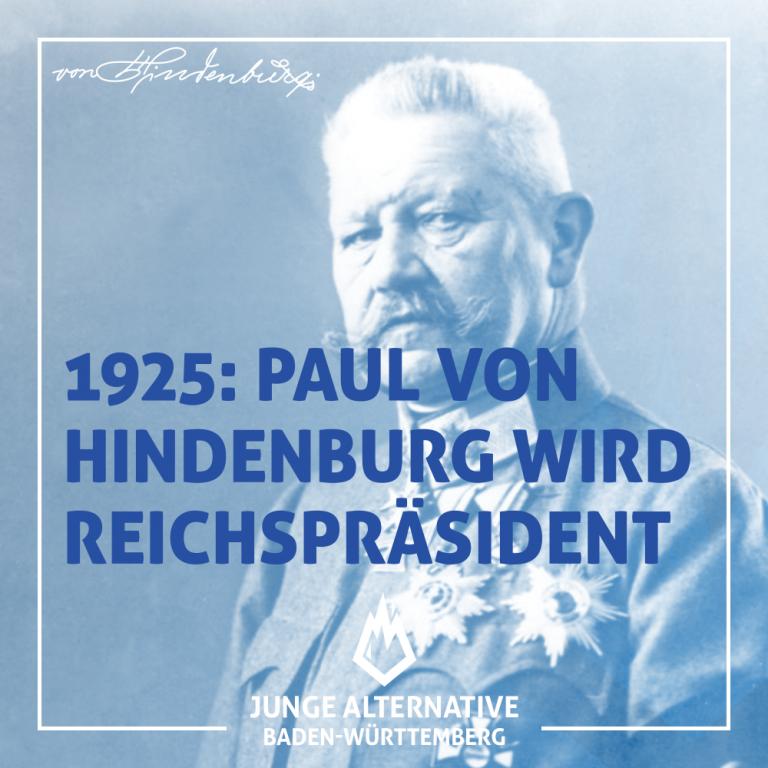 Vor 95 Jahren: Hindenburg als zweiter Reichspräsident der Weimarer Republik vereidigt