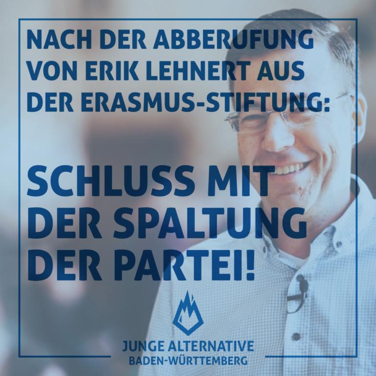 Abberufung von Erik Lehnert aus dem Vorstand der DES