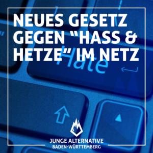 """Zum neuen """"Hass und Hetze""""-Gesetz"""