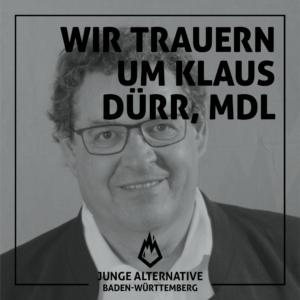 Wir trauern um Klaus Dürr, MdL