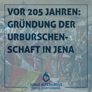 Vor 205 Jahren – Gründung der Urburschenschaft in Jena