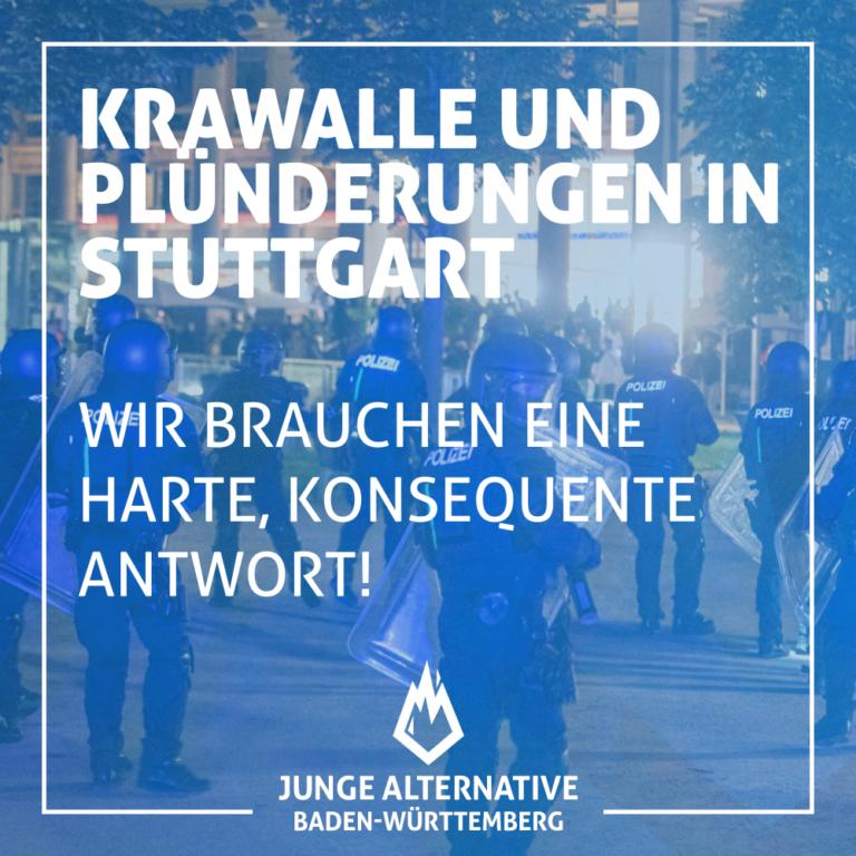 Gewaltausbruch und Plünderungen in Stuttgart