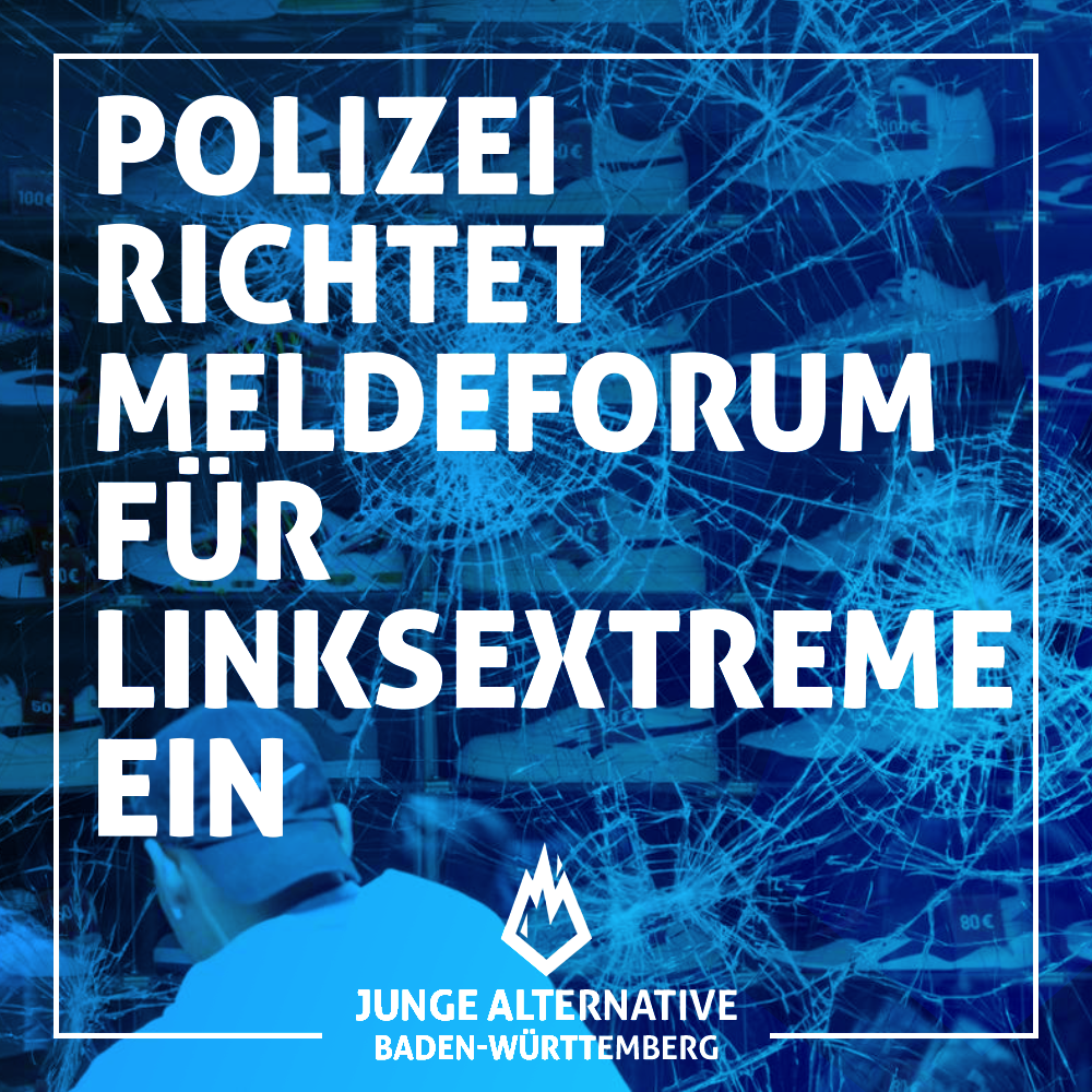 Polizei richtet Meldeplattform für Linksextreme ein