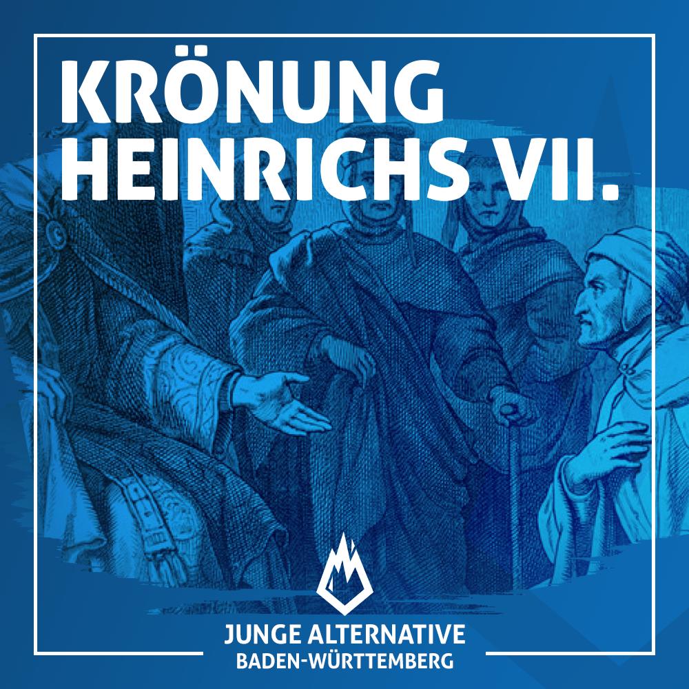 Krönung von Heinrich VII. im Jahre 1312