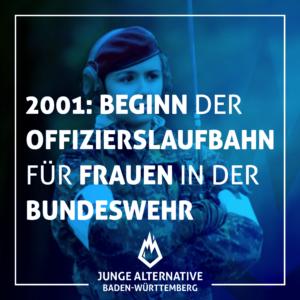 2001: die ersten Frauen beginnen ihre #Offiziersausbildung in der Bundeswehr