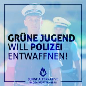 Grüne Jugend will Polizei entwaffnen