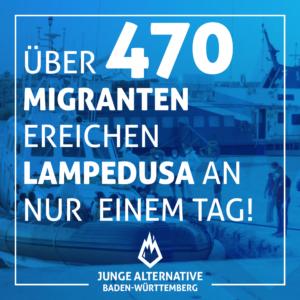Über 470 Migranten erreichen Lampedusa an nur einem Tag!