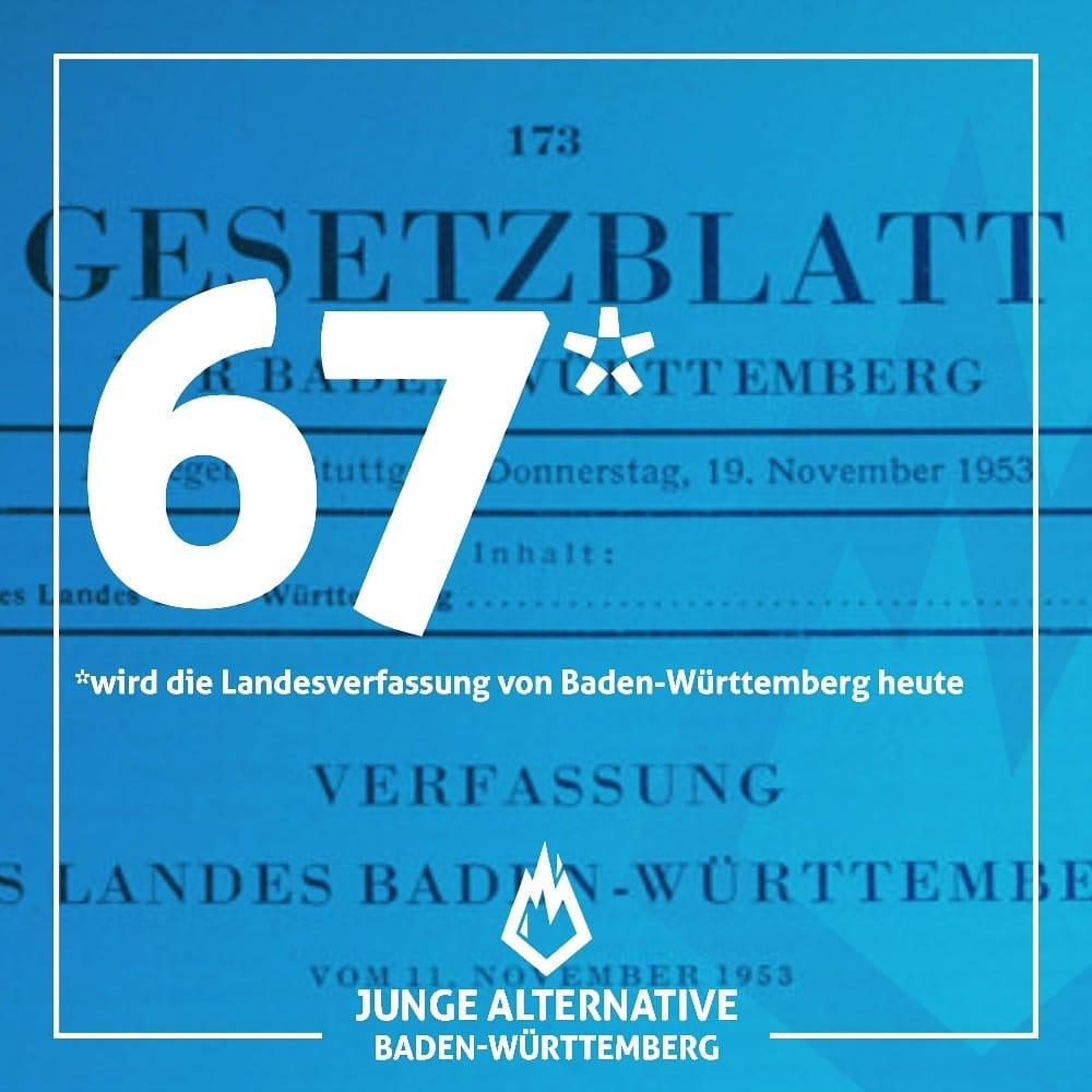 67 Jahre Beschluss der baden-württembergische Landesverfassung