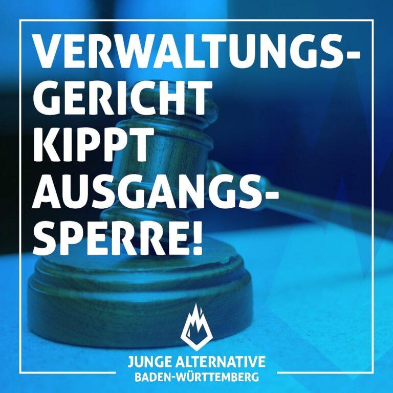 Verwaltungsgerichtshof Baden-Württemberg hebt nächtliche Ausgangssperren auf!