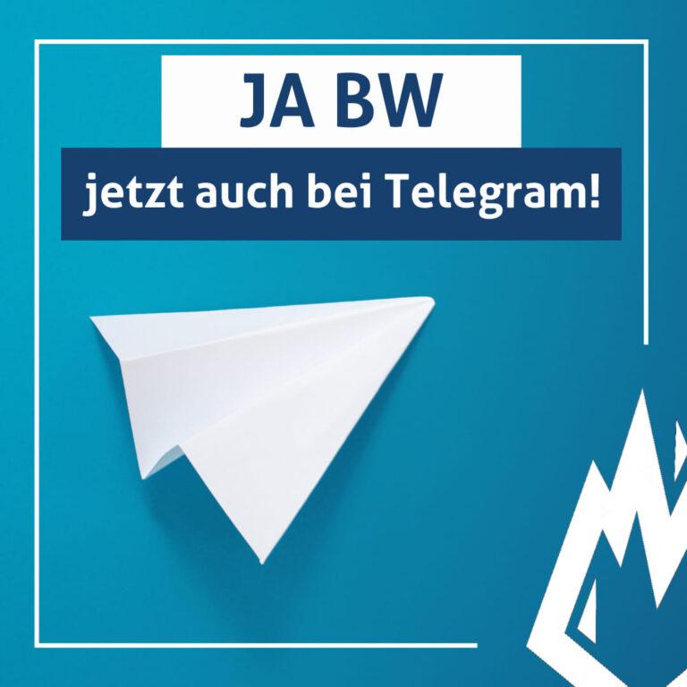 JA BW jetzt auch bei Telegram!