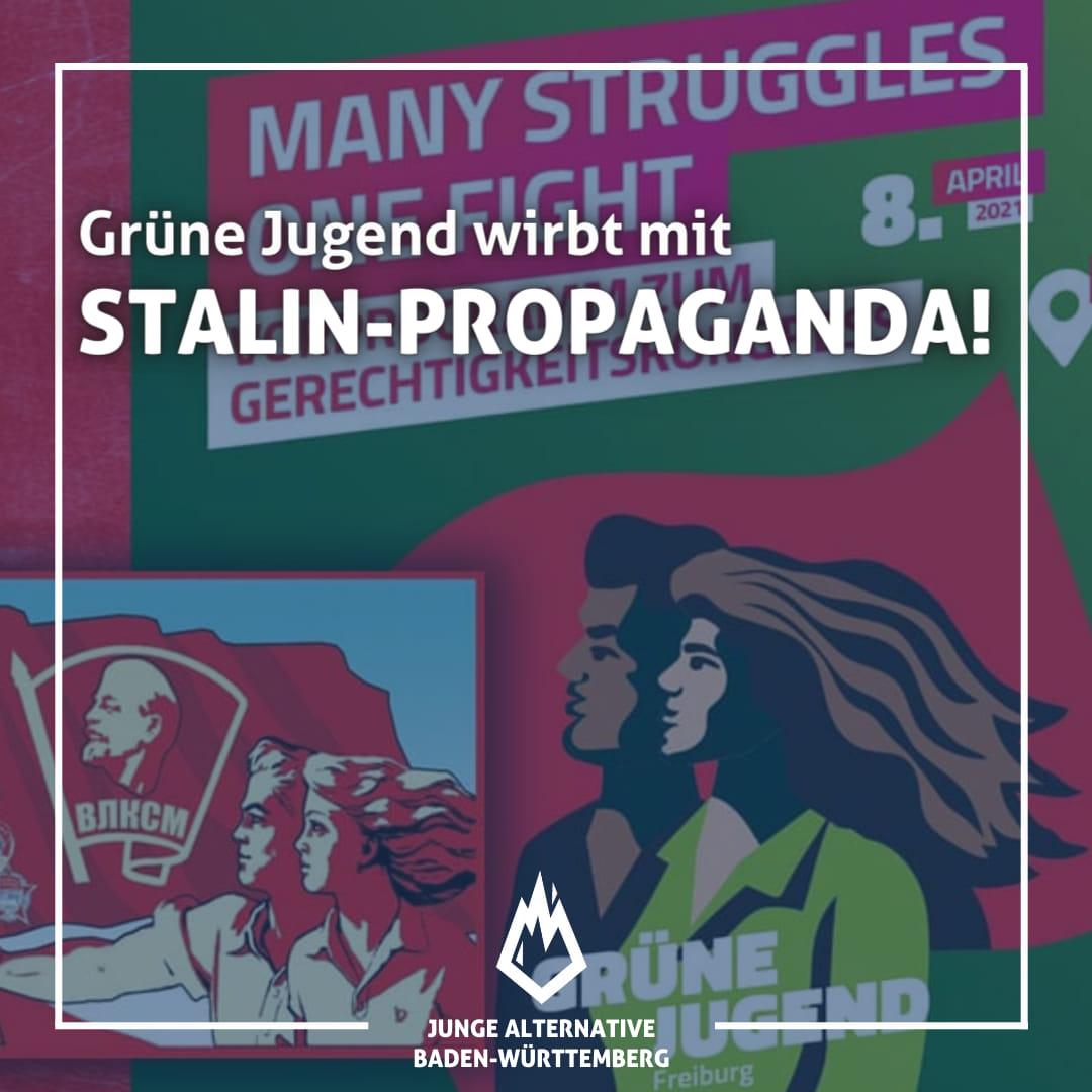 Grüne Jugend wirbt mit Stalin-Propaganda