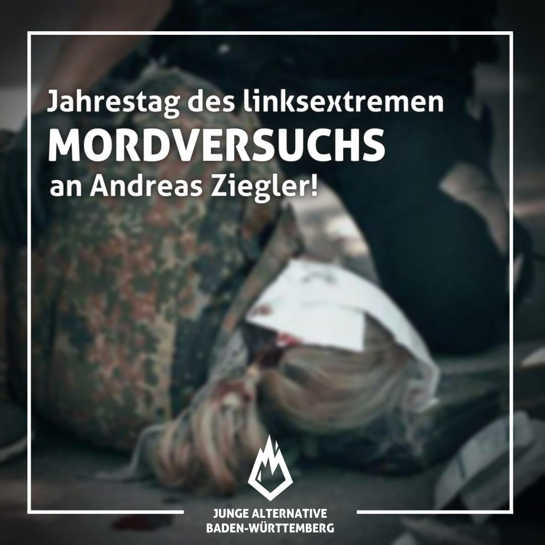 1. Jahrestag des linksextremen Mordversuchs an Andreas Ziegler