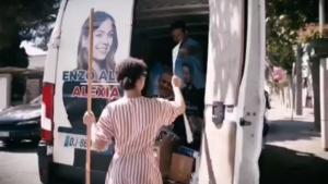 Wahlkampfunterstützung in Arles, Frankreich